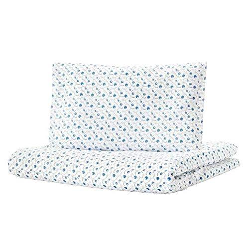 GULSPARV IKEA Baby Bettwäsche mit Blaubeermuster; 2-TLG; 100% Baumwolle; (110x125/35x55cm)