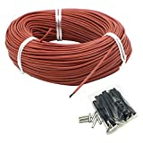 Jroyseter 12K Floor Warm Heating Cable 10M-50M Carbon Fiber Heating Cable ComfortableHeating Wires Electric Warm Wire for Room Floor