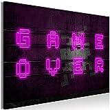 murando Cuadro en Lienzo para Jugadores 120x80 cm impresión en Material Tejido no Tejido impresión artística fotografía Imagen gráfica decoración de Pared – Game Over i-A-0152-b-a