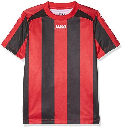 JAKO Kinder Fußballtrikots KA Trikot Inter, Rot/Schwarz, 116