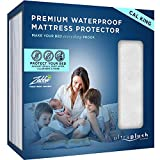 Ultra Plush 100% Waterproof Premium Mattress Protector, Luxuriously Soft and Comfortable, Protects Against Dust Mites and Allergens, Stretchable Deep Pocket Ensures Snug, Easy Fit (California King)