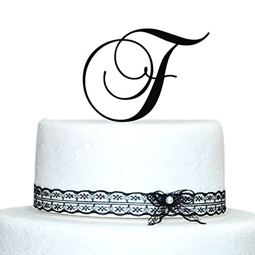 Price comparison product image Initials Wedding Cake Topper,  Letter Cake Topper,  Wedding Cake Topper - A, B, C, D, E, F, G, H, I, J, K, L, M, N, O, P, Q, R, S, T, U, V, W, X, Y, Z Gold