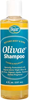 Olivae Shampoo by Baar - Organic Olive Oil Formula Nourishes Hair While Cleaning. Aloe Vera, Jojoba Oil, and Proteins Repair Damaged Hair, Help Thicken, and Adds Body to All Hair Types. 8 Ounces.