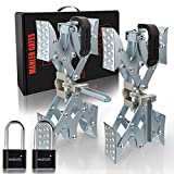 MAHLER GATES 2021 New X-Shaped Chock Wheel Stabilizer, RV Tire Locking Stabilizers for Campers Travel Trailers Trucks with Integrated Wrench and Anti-Theft Code Lock, Faster, Open 2'' to 10'' 2 Packs