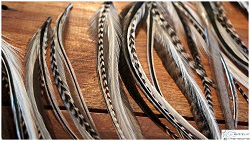 8 plume Extensions Extra Longue jusqu'à 38 cm de long.