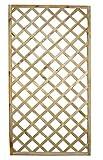 Milani Home s.r.l.s. Grigliato in Legno da Giardino Pannello Grigliato in Legno di Pino Impregnato in Autoclave per Esterno 90 X 180 Cm