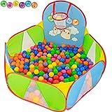 NUBUNI Bällebad für Kinder : Bällepool : Bällebad für Baby : Kleinkind Bällchenpool : Bällchenbad : Planschbecken : Baby Spielzelt : Ballebad : Pop up