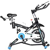 L NOW Indoor Exercise Bike Indoor Cycling Stationary Bike, Belt Drive with Heart Rate,...
