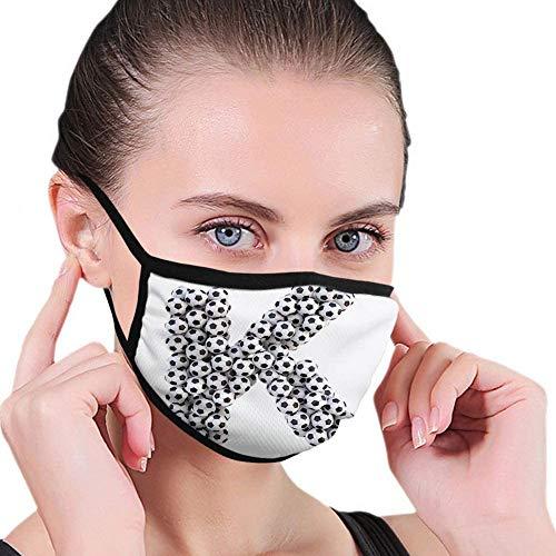 Wasbare anti-stof Ma-s-k voor letter K alfabet design met voetballen samenstelling met sportthema persoonlijkheid creativiteit neus monddeken design geschikt stofdicht