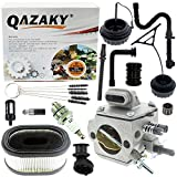 QAZAKY Carburetor Kit Replacement for Stihl 044 046 MS440 MS460 Chainsaw HD-14B HD-15-B HD-15C HD-16B HD-16D HD-17C HD-17A HD-17-A HD-24C 1128-120-0625 Carb with Air Filter Fuel Line Repower Kit