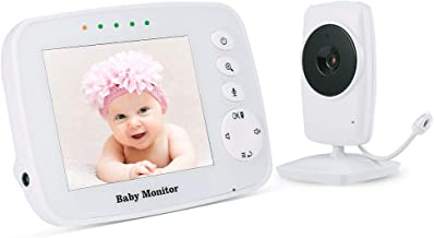 Baby Monitor, Video Baby Monitor Wireless Night Vision Dual View Video,  Newborn Baby..