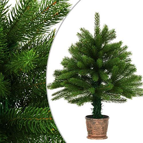 Festnight Künstlicher Weihnachtsbaum mit Korb 65 cm Grün Tannenbaum Christbaum Dekobaum Weihnachtsdekoration Wiederverwendbar Wasserabweisung