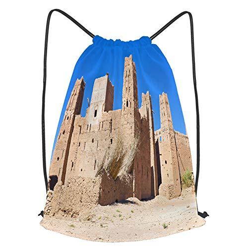 Impermeable Bolsa de Cuerdas Saco de Gimnasio La ciudad fortificada de Ait ben Haddou cerca Deporte Mochila para Playa Viaje Natación