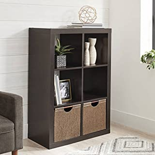 Better Homes and Gardens 6-Cube Decorative Organizer in Espresso Finish