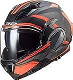 LS2 Casco de moto FF900 VALIANT II REVO MATT Titanium naranja, negro y naranja, L