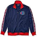 Champion LIFE Men's Track Jacket, Imperial Indigo/Scarlet, Large