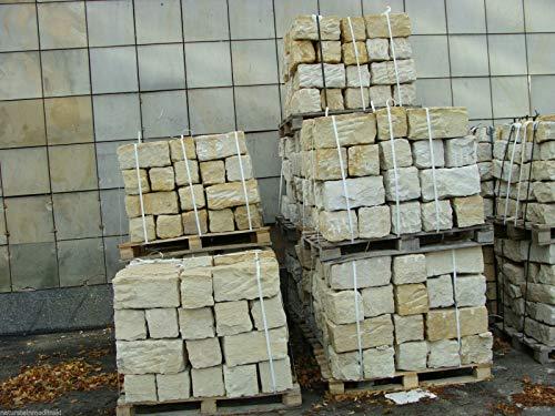 Sandstein Mauersteine ca. 15x20x40 cm, allseitig gespalten