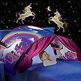 Nifogo Tienda de Campaña Carpa Infantil para Cama Carpa de Juego Niños, Plegable Carpa de Unicornio Dormitorio Decoración Regalo de Cumpleaños