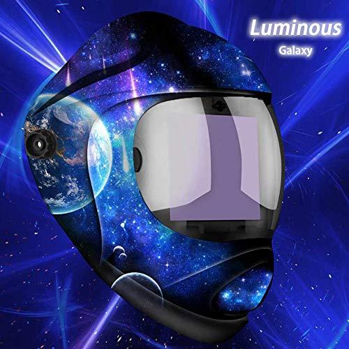 Tekware Casco de Soldadura de Auto Oscurecimiento con Energía Solar Color Verdadero Pantalla Grande, Lente 4C Hemisférica, Máscara de Soldador de 4 Sensores para TIG MIG Soldadura de Arco Molienda