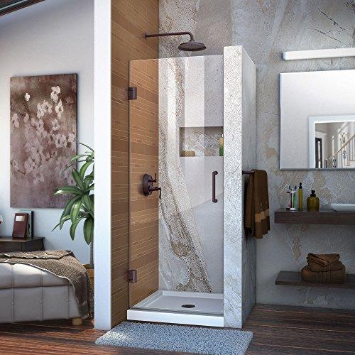 DreamLine Unidoor 24 in. W x 72 in. H Frameless Hinged Shower Door in Oil Rubbed Bronze, SHDR-20247210F-06