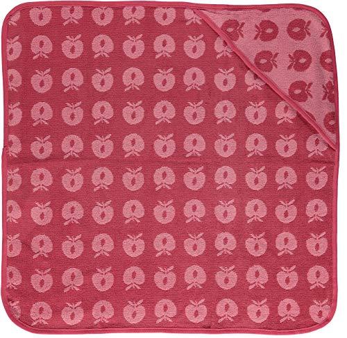 Smafolk Babybadetuch rosa mit Äpfeln
