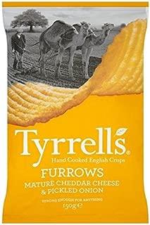 Tyrrells Cheddar Cheese & Pickled Onion Furrows 150g