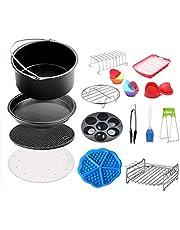 "NQ-ChongTian 8 ""Air Fryer Accessoires, Geschikt voor 4.5-5.8QT Hot Dog Mold Cake Basket Bakpan (15 Sets in totaal)"