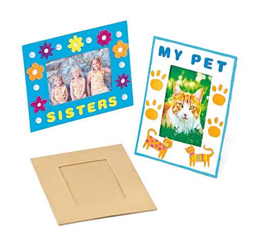 Baker Ross Marcos de fotos para manualidades que los niños pueden decorar y personalizar (pack de 4)