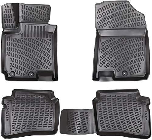 Elmasline Design 3D Gummimatten Set für Hyundai i20 II Baujahr ab 2014 | Extra hoher 5cm Rand