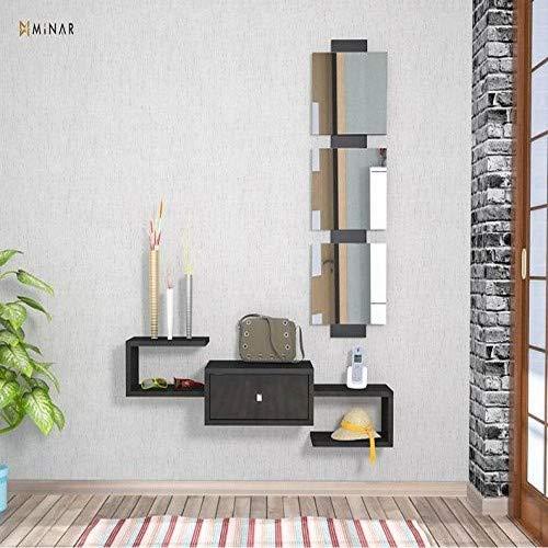 Homemania Mobile Ingresso Dorado, PVC, Nero Lucido, 100x30x19 cm - 29x107 cm