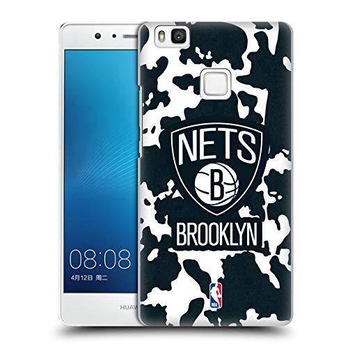 Head Case Designs Oficial NBA Estampado Animal de Vaca Brooklyn Nets 3 Carcasa rígida Compatible con Huawei P9 Lite / G9 Lite