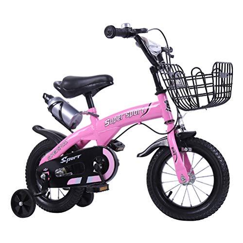 WYXR Bicicletas Infantiles para niños y niñas| Bici con ruedines y Cesta|...