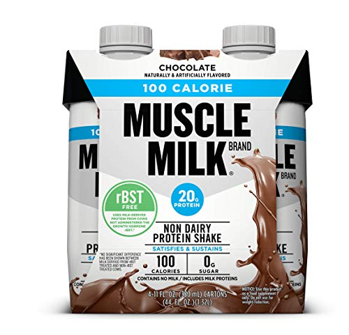 Muscle Milk Chocolate Light Ready-to-Drink Shake, 11oz 8 Pack