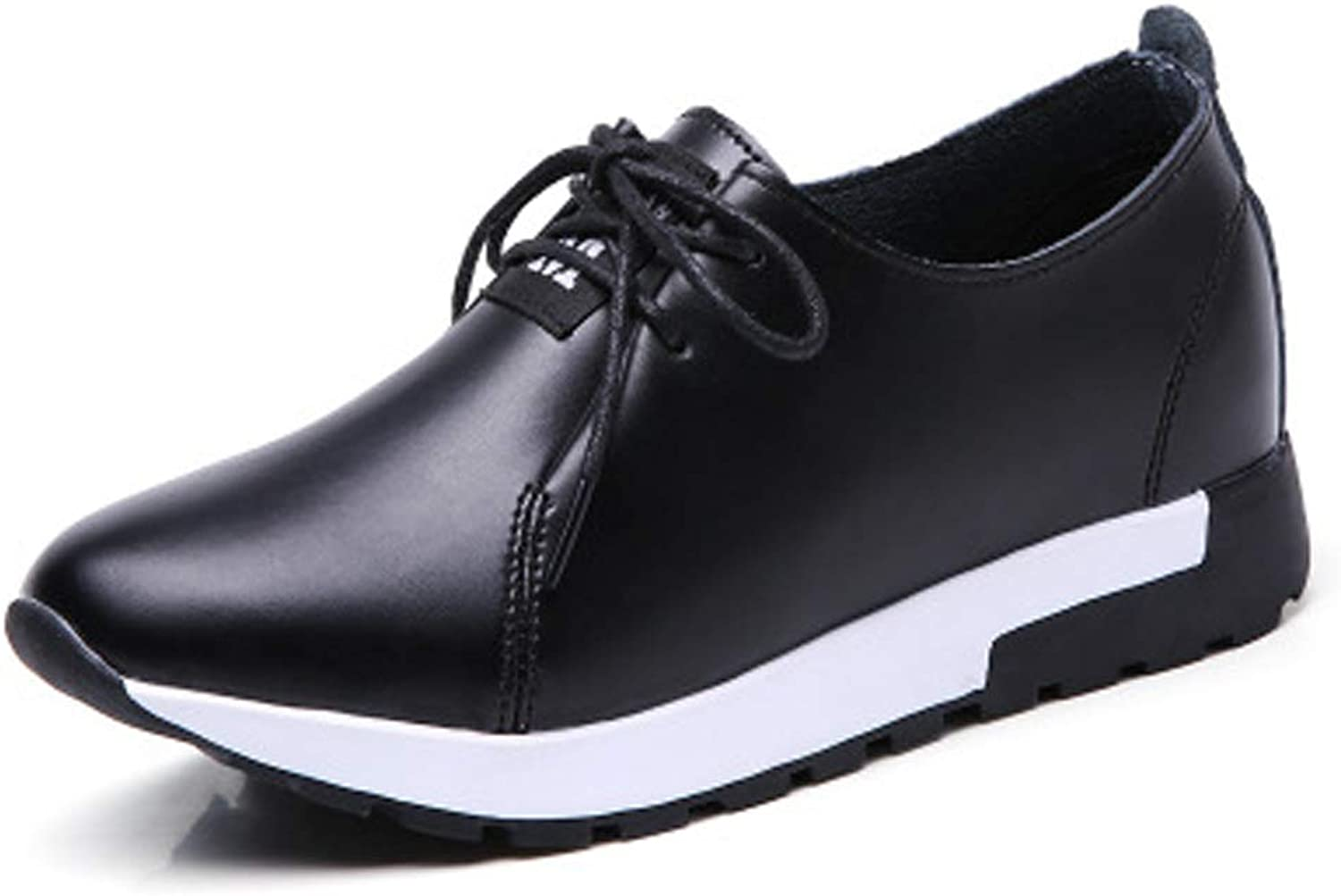 Flat Casual shoes Comfortable Leather Non-Slip Lacing Women's shoes.