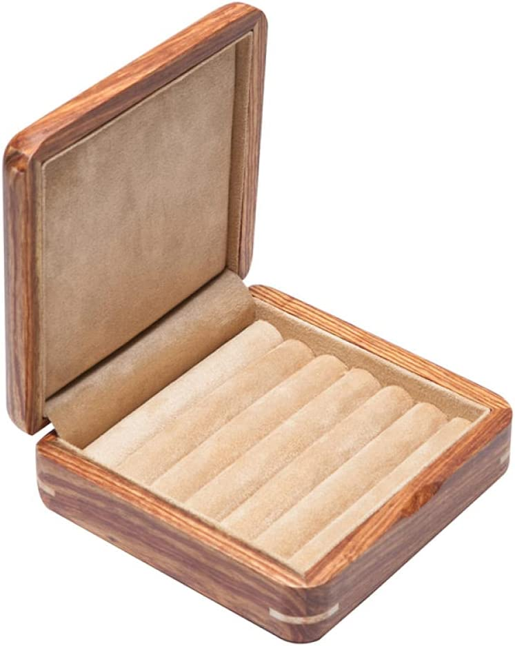 Anbiratlesn Wooden Max 53% OFF Jewelry Box Rosewood Wood Popular overseas Solid Pure