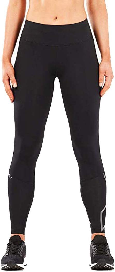2XU Bottines Femme Mi-Montée de Compression Collants-Noir//Contour Union Jack WA5312b