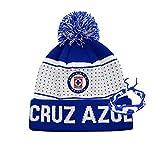 Icon sports Cruz Azul Beanie hat Cap Futbol Club Logo 2020 2021 Official Soccer Gear and Bracelet C2 (Cruz Azul Beanie 1)
