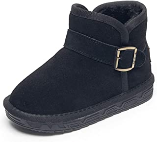 Toddler Baby Boys Shoes Winter Warm Soft Toddler Boots Shoes Baby Casual Shoes Snow Boots (Color : Black, Size : 27)