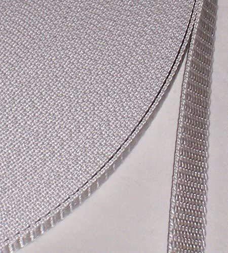 50 m Rolle Rolladengurt - spezial - grau - Breite 14 mm - hohe Reißfestigkeit - UV Beständigkeit - Schmutzunempfindlichkeit - beste Scheuerfestigkeit - Perlonkantenschutz