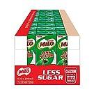 MILO UHT Less Sugar Chocolate Malted Milk, 200ml (Pack of 24)