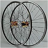 UPPVTE 26 Pulgadas MTB Rueda de Bicicleta, Freno de Disco/v Freno de aleación de aleación de Aluminio de Doble Pared Conducción de Casete de llanta de 32 Orificios 7/8/9/10 Bicicleta Ciclismo