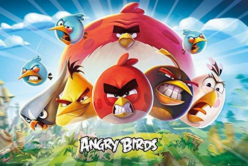 empireposter Angry Birds-Keyart Games Poster formaat 91,5 x 61 cm, papier, kleurrijk, 91,5 x 61 x 0,14 cm