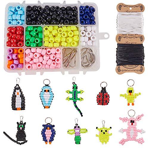 SUNNYCLUE 1 Caja DIY 10pcs Bead Pets Kit 8 mm Pony Beads...