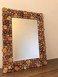 wood slice art ideas ~ mirror