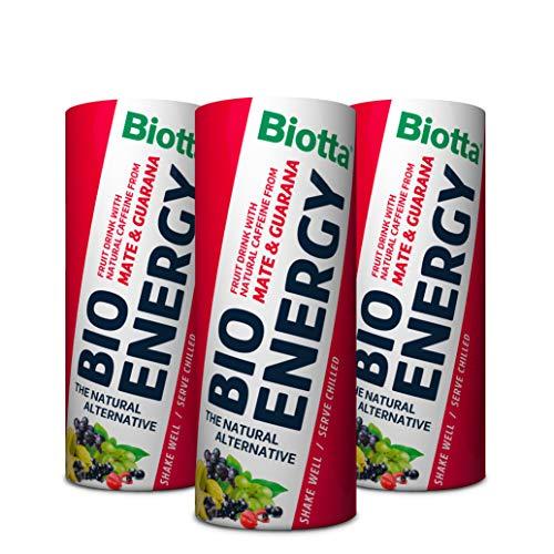 A.Vogel Biotta Energy Boisson Energisante Fruitée 100% Bio Maté/Guarana Fabrication Suisse 250 ml - Pack de 3