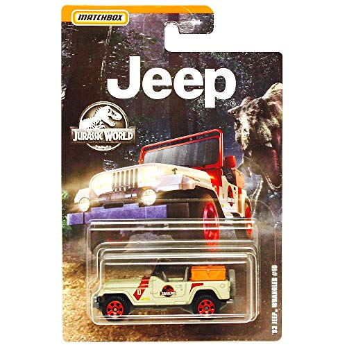 Matchbox '93 Jeep Wrangler #10 Jurassic World Diecast 1:64 Scale