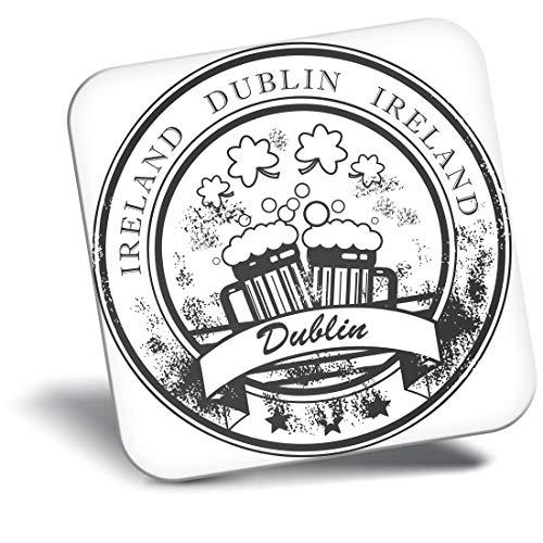 Imán para nevera con diseño de vinilo de destino Ltd, de Dublín Irlanda, de viaje irlandés, #39907