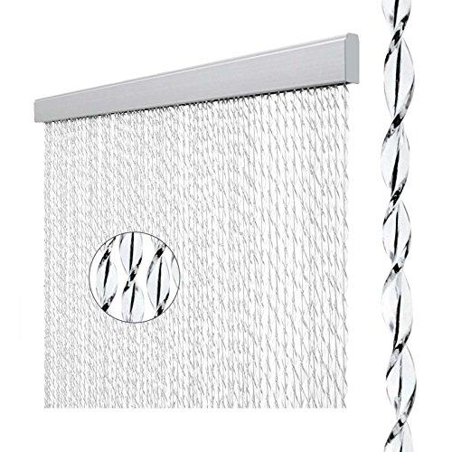 Arisol Türvorhang Sara, 100% PVC, 60x190 cm, weiß/schwarz