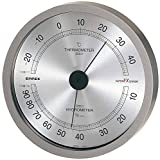 エンペックス スーパーEX高品質温・湿度計 メタリックグレー EX-2727