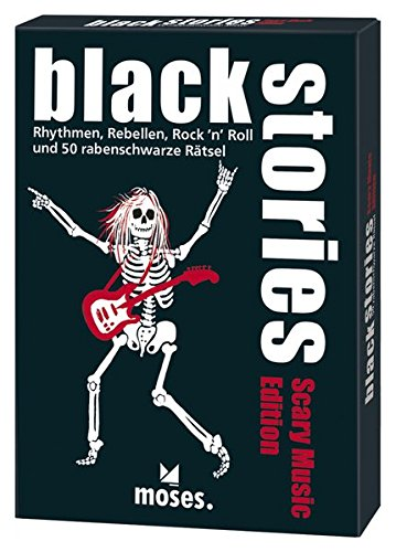black stories - Scary Music Edition: Rythmen, Rebellen, Rock´n´Roll und 50 rabenschwarze Rätsel